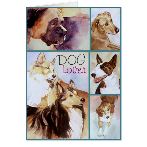 DOG Lover Watercolor Portraits Notecards Cards