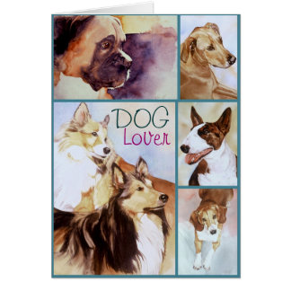 DOG Lover Watercolor Portraits Notecards Stationery Note Card