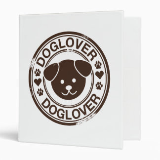 Dog Lover with puppy face Binder
