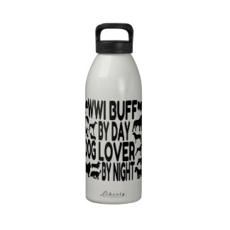 Dog Lover WWI Buff Drinking Bottles