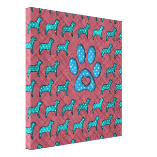 Dog Lovers Cute Polka Dots Gallery Wrapped Canvas