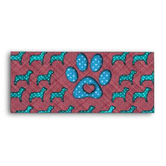 Dog Lovers Cute Polka Dots Envelope