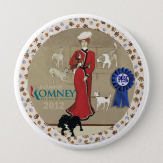 Dog Lovers for Romney Button