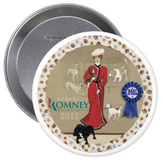 Dog Lovers for Romney Pinback Button