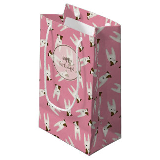 Dog lovers Jack Russell Terrier patterned birthday Small Gift Bag