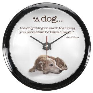 "Dog Lovers, ""Missing You!"" Fish Tank Clocks"