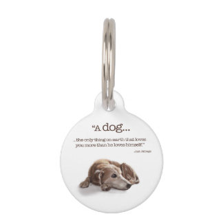 """Dog Lovers, """"Missing You!"""" Pet Name Tags"""