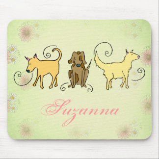 Dog Lovers Mousepad, Cute Dogs, Personalize Mouse Pad