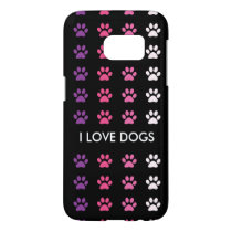 Dog Lovers Paw Prints Galaxy S7 Case