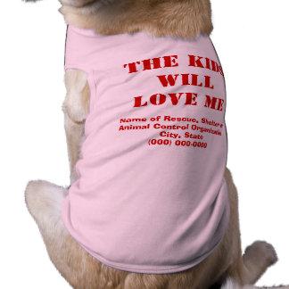 Dog Loves Kids Adoption Shirt