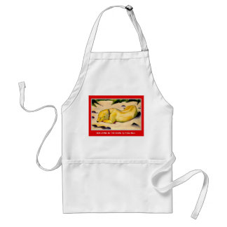 Dog Lying in the Snow Adult Apron
