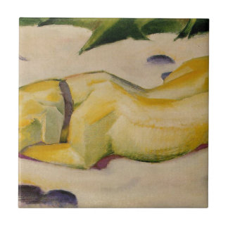 Dog Lying in the Snow by Franz Marc Ceramic Tile