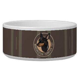 Dog manchester terrier toy pet food bowls