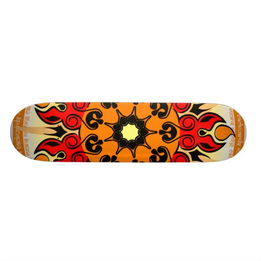 Dog Mandala Skateboard
