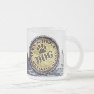 Dog Man's Drinking Buddy Frosted Mug