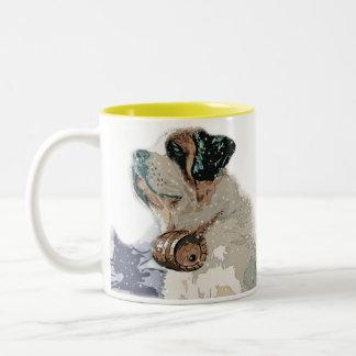 Dog Man's Drinking Buddy Two-Tone Mug