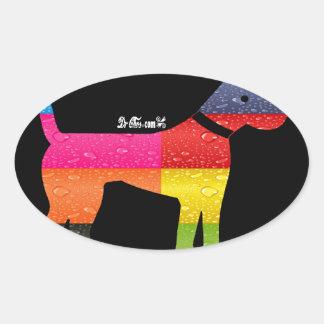 DOG MAYA AZTEC DRCHOS.COM 12 CUSTOMIZABLE PRODUCTS OVAL STICKER