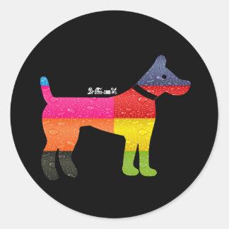 DOG MAYA AZTEC DRCHOS.COM 12 CUSTOMIZABLE PRODUCTS ROUND STICKER