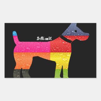 DOG MAYA AZTEC DRCHOS.COM 12 CUSTOMIZABLE PRODUCTS RECTANGULAR STICKER