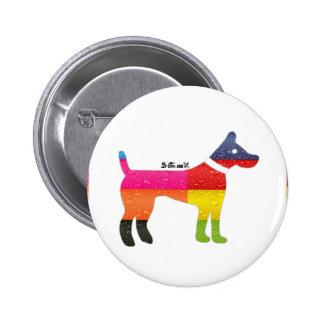 DOG MAYA AZTEC DRCHOS.COM 12VV CUSTOMIZABLE PRODUC 2 INCH ROUND BUTTON