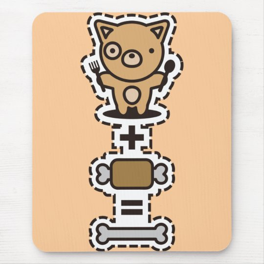 Dog + Meat = Bone Mouse Pad