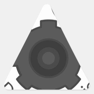 Dog Mechanics gear Triangle Sticker