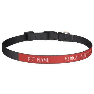 Dog Medical Alert Collar Custom