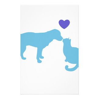 Dog Meets Cat Stationery Paper