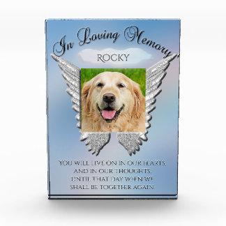 Dog Memorial Angel and Sky Look Acrylic Award