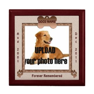 Dog Memorial Brown Tones Trinket Boxes