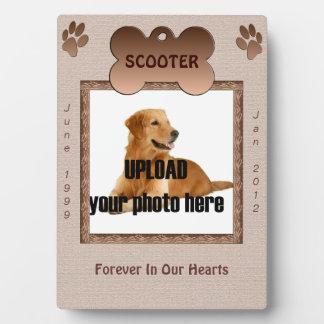 Dog Memorial Brown Tones Photo Plaques