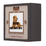 Dog Memorial Brown Tones Premium Keepsake Box