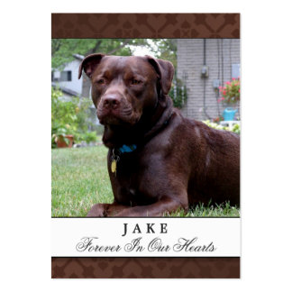 Dog Memorial Card Brown Do Not Mourn Poem Large Business Cards (Pack Of 100)