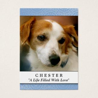 Dog Memorial Card Light Blue Don't Grieve Poem