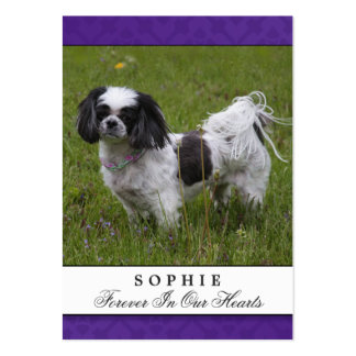 Dog Memorial Card Purple Modern Do Not Mourn Poem Large Business Cards (Pack Of 100)