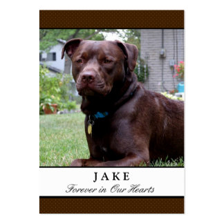 Dog Memorial Cards - Chocolate Brown with Photo