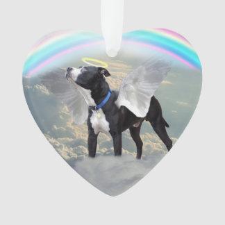Dog Memorial Custom Heart Ornament