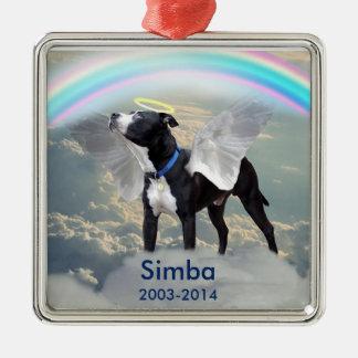 Dog Memorial Custom Square Ornament