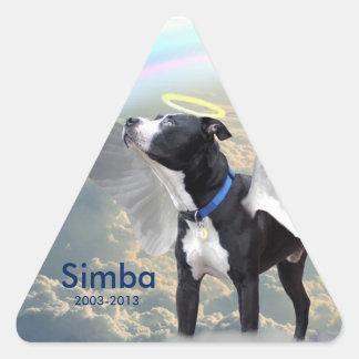 Dog Memorial Custom Triangle Stickers, Glossy Triangle Sticker