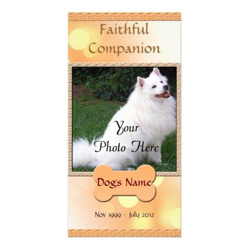 Dog Memorial Faithful Companion Card