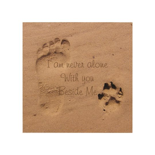 Dog memorial Footprints in Sand Personalized Wood Wall Decor ...