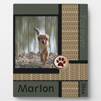 Dog Memorial Forever Friend Display Plaque