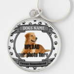 Dog Memorial Forever Remembered Key Chain