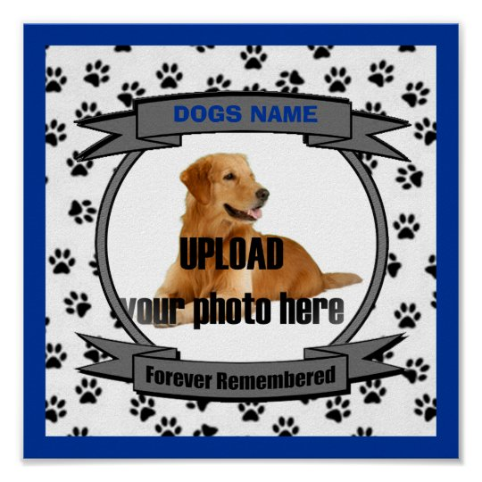 Dog Memorial Forever Remembered - Male Poster