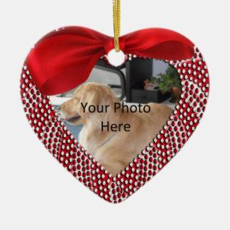 Dog Memorial Heart Shaped Ornament - CHRISTMAS