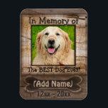 """Dog Memorial Magnet<br><div class=""""desc"""">A comforting Dog Memorial gift.</div>"""