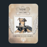 "Dog Memorial Magnet<br><div class=""desc"">A comforting Dog Memorial magnet with angel wings.</div>"