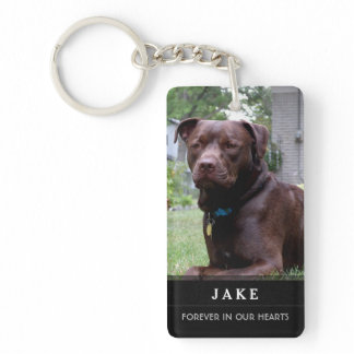 Dog Memorial - Now I'm Free Keychain