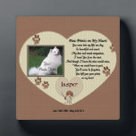 "Dog Memorial - Paw Prints on My Heart - Beige Plaque<br><div class=""desc"">In Loving Memory of your dog photo plaque.. Poem - Paw Prints on My Heart All products are customizable to your needs. Click on &quot;Customize it to change the font style, color and or placing. If you are having trouble fitting you photo or getting it perfect contact me at patcald@shaw.ca...</div>"