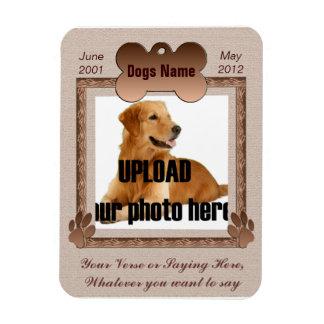Dog Memorial - Pet Memorial Brown Tones Magnet